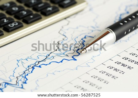 Business graphs and charts.