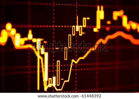 Business graphs on the monitor. - stock photo