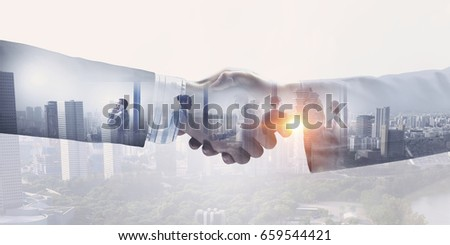 Business greeting or agreement #659544421
