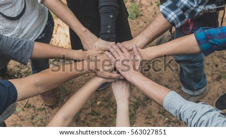 business group United Hands together - teamwork concepts #563027851