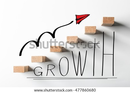 Business growth concept picture for business growth abstract background. #477860680