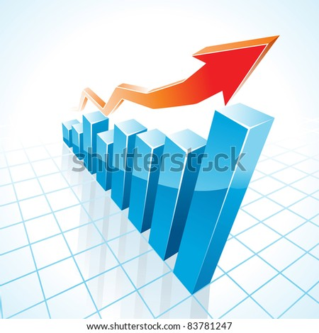 Business Growth Graph raster