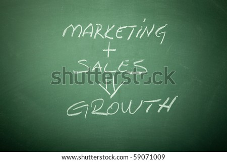Business Growth Plan  Concept on Blackboard