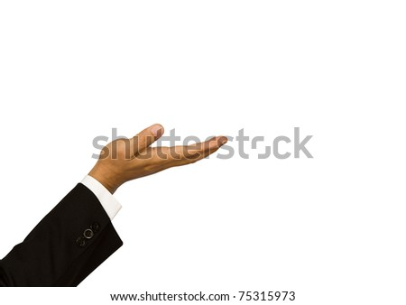 Business hand isolated over white background