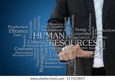 Business Hand Touch Human Resources Chart