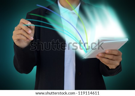 business hand write
