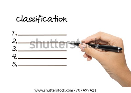 Business hand writing classification