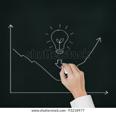 business hand writing picture of good idea can change regression to progression