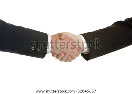 Business Handshake after corporate deal