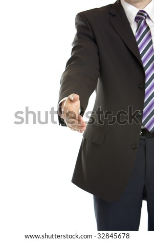 Business Handshake after corporate deal - stock photo