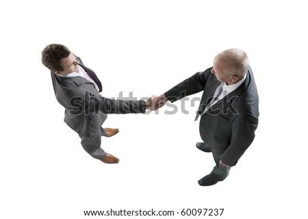 Business handshake and trust - stock photo