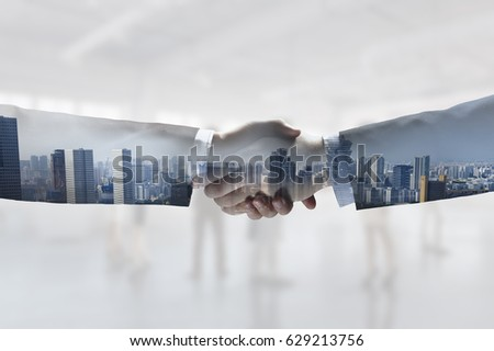Business handshake as symbol of deal #629213756
