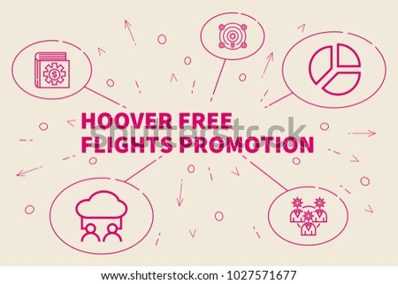 Business illustration showing the concept of hoover free flights promotion Zdjęcia stock ©