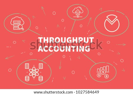 Business illustration showing the concept of throughput accounting