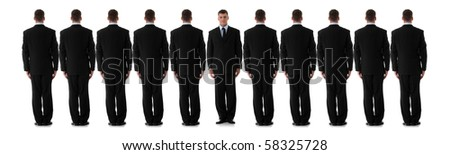 Business individuality concept over white background.