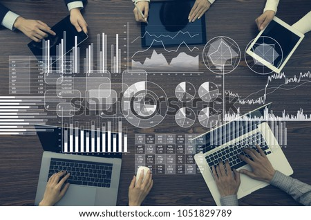 Business information and infographics concept. - Shutterstock ID 1051829789