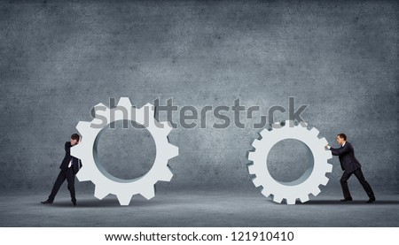 Business innovation creative idea for you over grey background