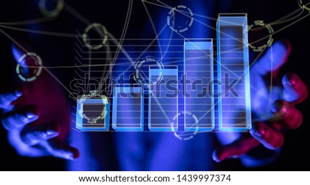 Business intelligence. Diagram, Graph, Stock Trading, Investment dashboard #1439997374