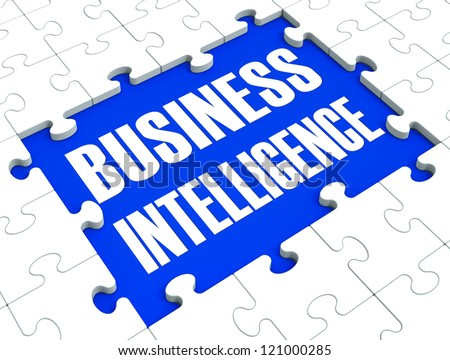 Business Intelligence Puzzle Shows Company's Opportunities And Obtained Knowledge