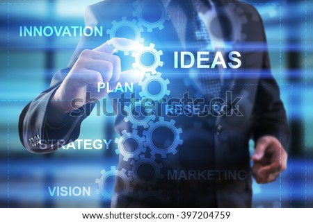 Business, Internet and technology concept. Businessman select Ideas.
