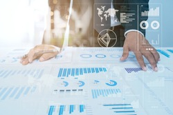 Business Investment Advisory TEAM Analyzes COMPANY's Annual Financial Statements. Balance SPREADSHEETs Work with Graph Papers. internal AUDIT TAX return on Investment Analysis Shareholders