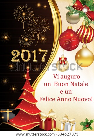 business italian greeting card for winter holiday text translation we wish you merry christmas