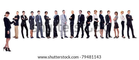 business leader presenting her successful business team