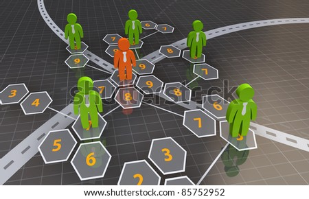Business leadership and team concept
