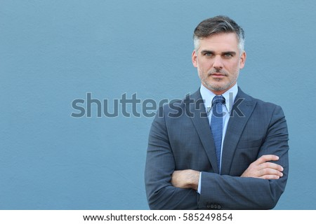 Business magnate with arms crossed #585249854