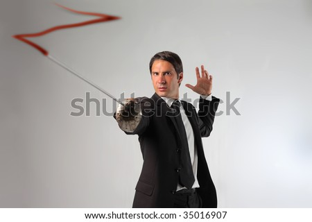 business man drawing with a sword  the z of Zorro