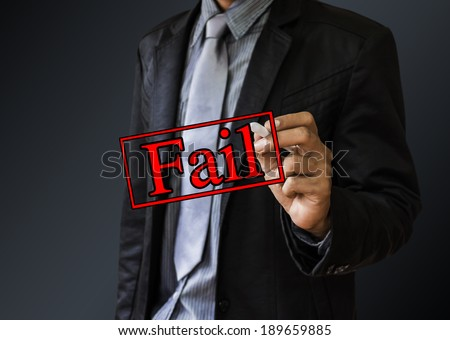 business man fail