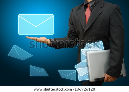Business man Got E mail