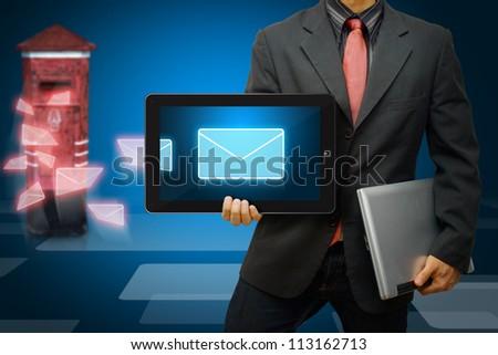 Business man Got E mail