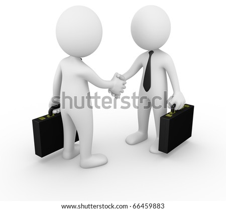 Business man handshake