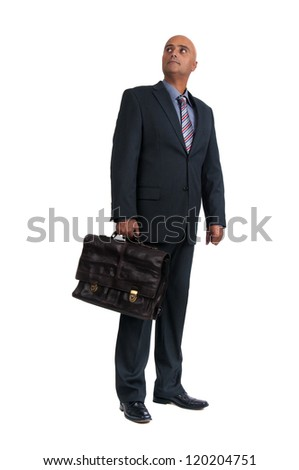 business man holding brief case