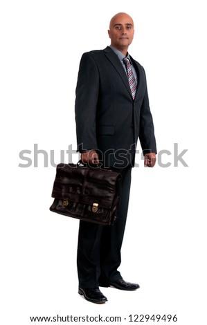 business man holding brief case