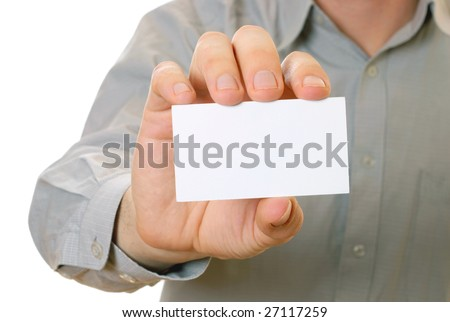 business visiting card 2011