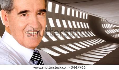 Business man portrait inside an office building