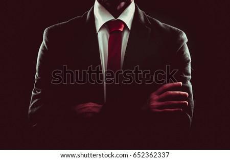 business man portrait with black background
