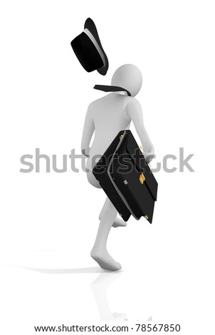 Business man run - stock photo