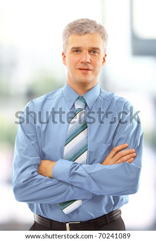 business man standing isolated on white