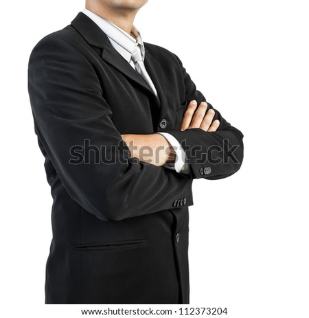 business man standing with confidence on white background