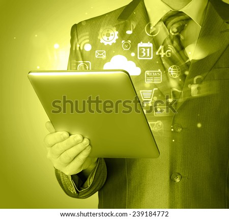 Business man using tablet PC #239184772
