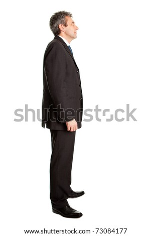 Business man waiting in queue
