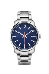 business man watch in white background