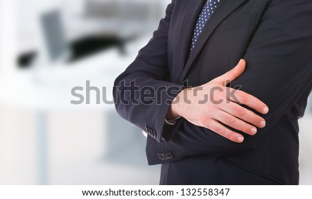 Business man with arms crossed. Сток-фото ©