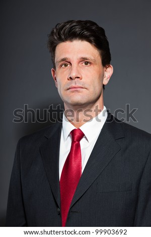 Red Tie Charcoal Grey Suit – images free download
