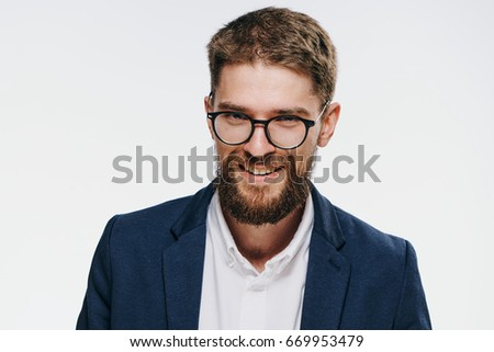 Business man with glasses                                - Shutterstock ID 669953479