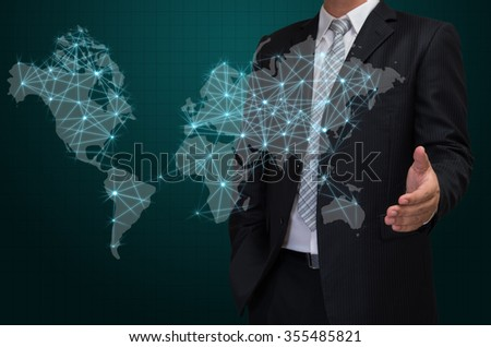 Popular free business man with visual world map screen business business man with visual world map screen business concept 355485821 gumiabroncs Choice Image