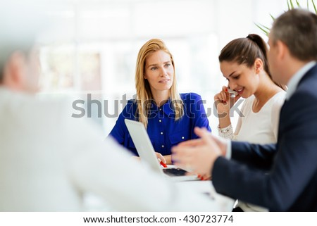 Business meeting and brainstorming in modern office - Shutterstock ID 430723774
